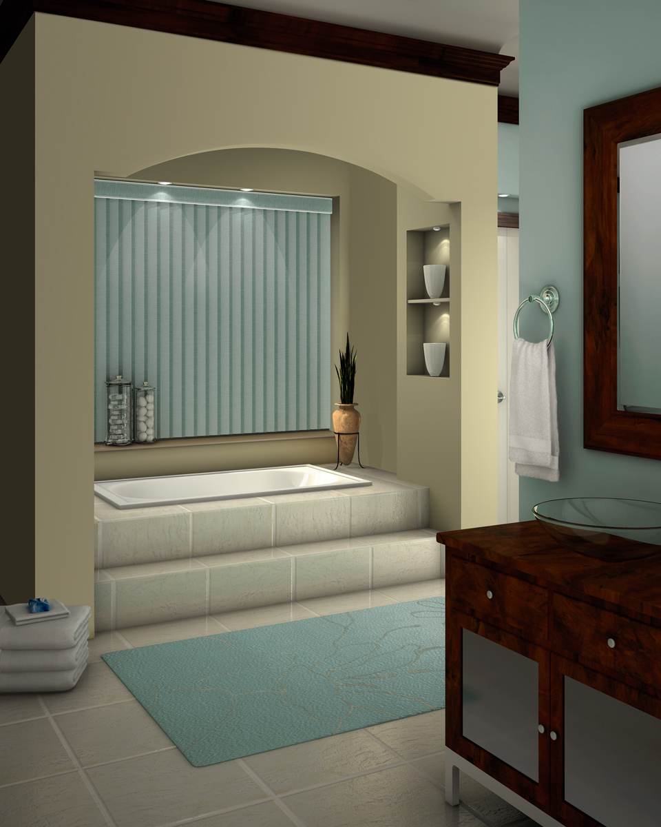Bathroom window blinds - Vertical Blinds