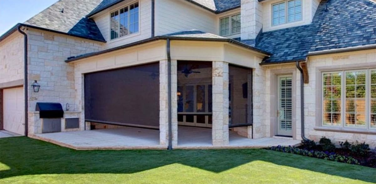 outdoor motion screens for homes in southlake and roanoke tx