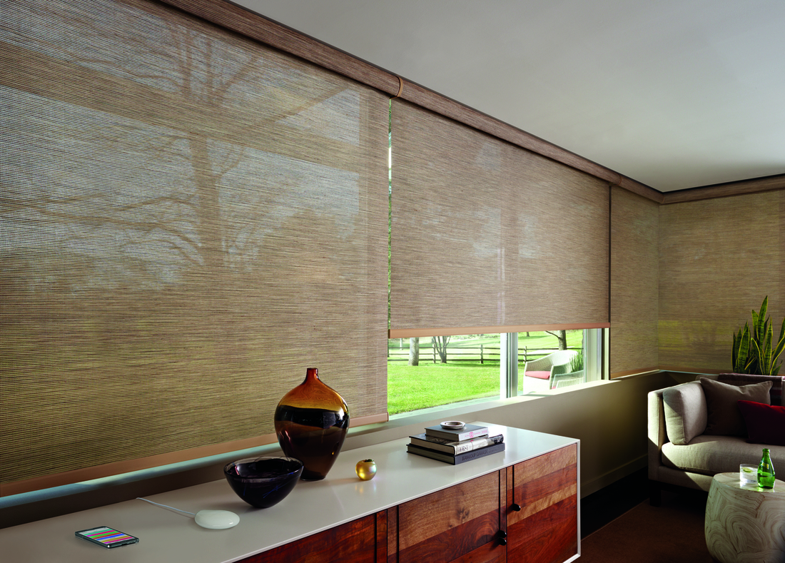 Custom Motorized Window Treatments for Homes Near Southlake, Texas (TX) using the PowerView Motorization System App