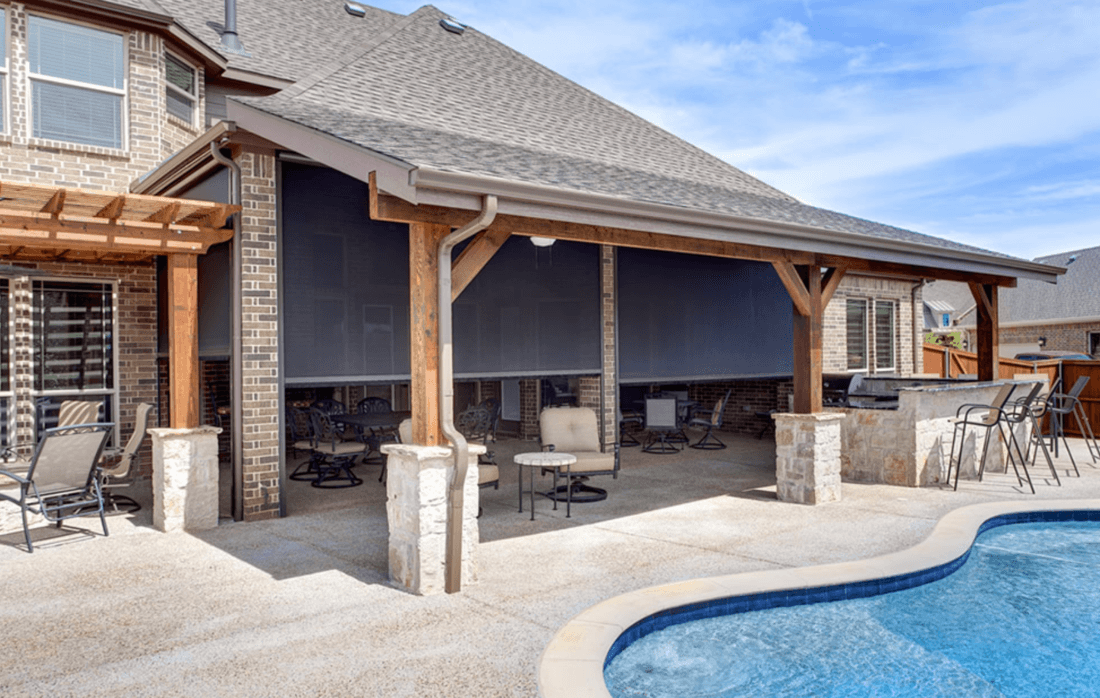 Luxury Custom Outdoor Motion Screens for Homes Near Grapevine, Texas (TX) for Patio Shade and Protection
