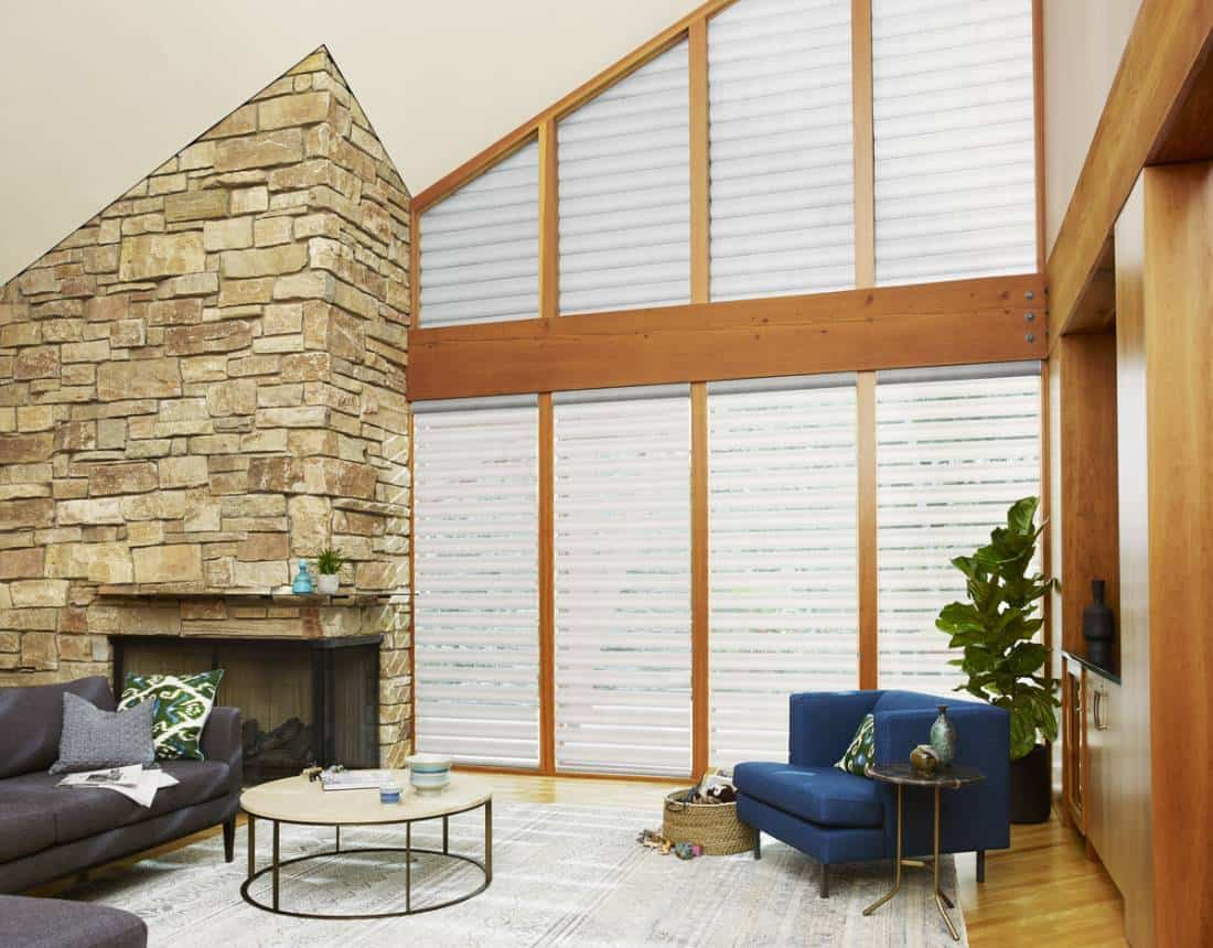 Hunter Douglas Pirouette® Window Shadings for refined elegance and light control near Southlake, Texas (TX)